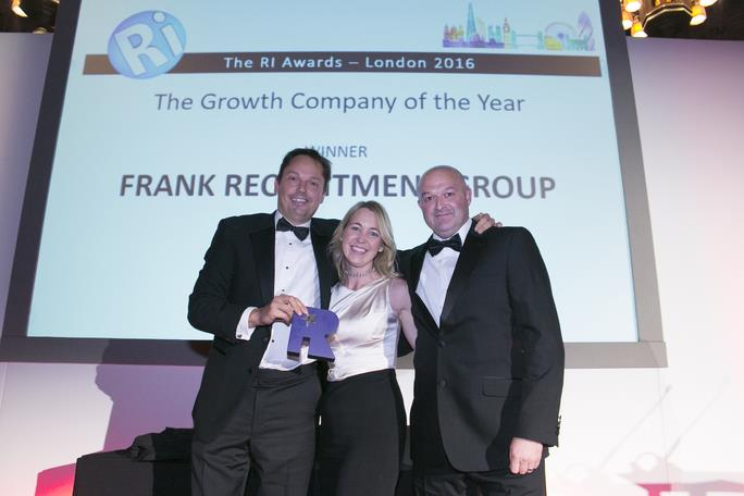Frank Recruitment Group celebrates success at industry awards